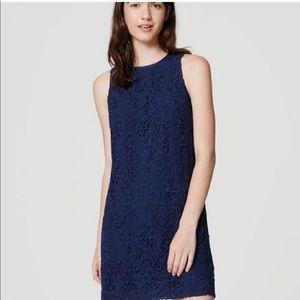 Loft | Navy Blue Lace Sheath Dress